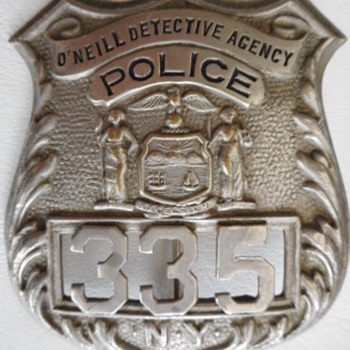 O'Neill Detective Agency Badge - Medals Pins and Badges