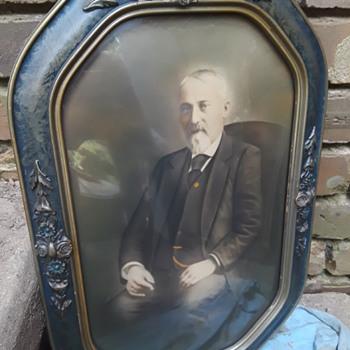 antique fancy-framed portraits of people I don't know (#3) - Fine Art