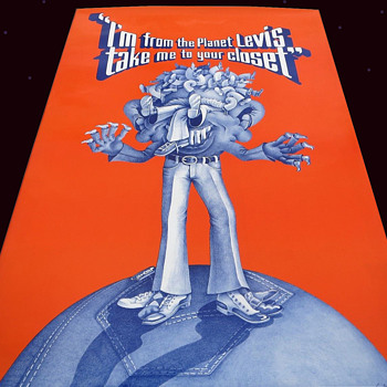 1967 PLANET LEVIS in-store advertising poster