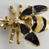 Vintage Enamel Bee Pin with Trembler Wings