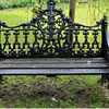 "Antique Cast Iron ""Gothic"" Garden Bench"
