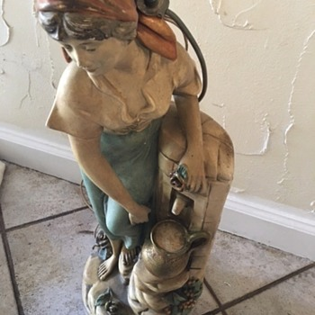 Italian Table Lamp with figure - Lamps