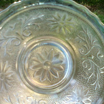 Clear Decorated Glass Bowl - Glassware