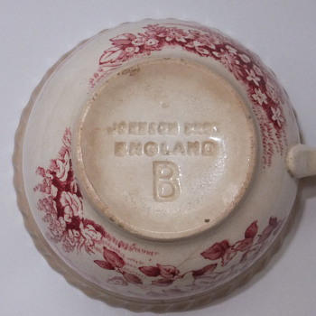 RARE cup. `Stamped-in` `Johnson Bros England B`.