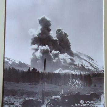 KA-BOOM!!  1914 Mt. Lassen Ca.  photo 1914!  from thrift store! - Photographs