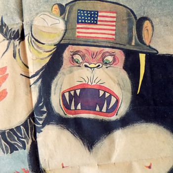 """Powerful 1940s Propaganda Poster: """"Heartless American Ghosts that invaded China"""". - Posters and Prints"""