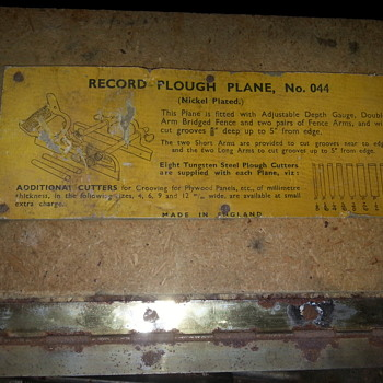 Record Plough Plane No.44 - Tools and Hardware
