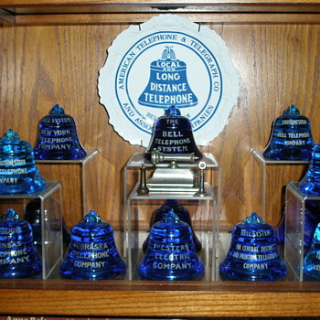 The Bell System Blue Bell Paperweights - Telephones