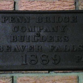 Bridge Builder's Plate from my Hometown - Tools and Hardware