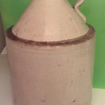 American stoneware unsigned moonshine jug?