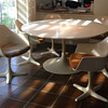 "Burke 60"" Tulip table and 7- 116 chairs"