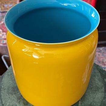 Large Middle Kingdom - Jingdezhen - Fine Porcelain Vase / Jar / Cache pot - Asian