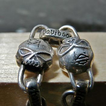 Silver Harley Davidson Skulls Bracelet - Motorcycles