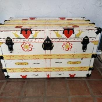 Phoenix Trunk Factory Antique Trunk - Furniture