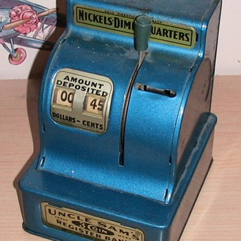 Cash Register - Savings Bank - Coin Operated