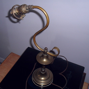Old brass lamp. - Lamps