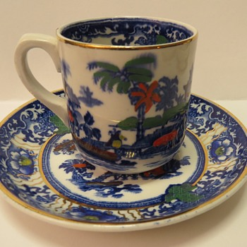 Antique Coffee Cup and Saucers - China and Dinnerware