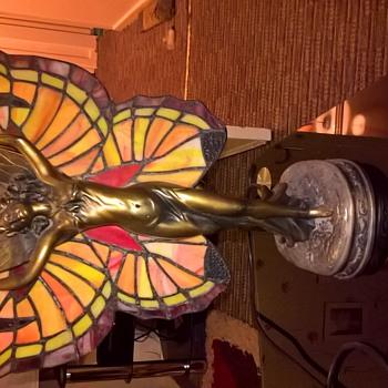 Butterfly lady lamp