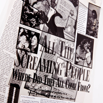 Beatles Newspaper Editorial Drafts - Music Memorabilia