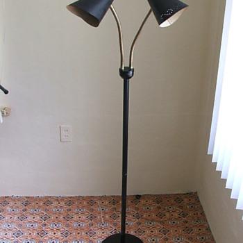 Vintage Mid-Century Goose neck floor lamp - Lamps