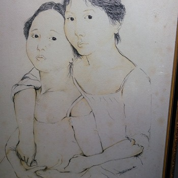 Oriental ink portrait painting signed by ????? Help  - Fine Art