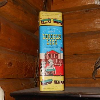 Vintage Lincoln Log Set 1950s - Toys