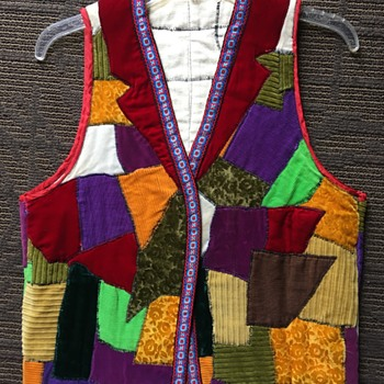1969 Handmade Velvet/Corduroy Patchwork Vest - Mens Clothing