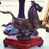 Bronze cast running horse, no marks, do not know age or origin