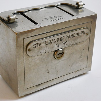 "Promotional Advertising Steel Bank""State Bank Of Randolph, New-York""Circa 1891"