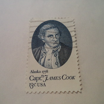 Capn James Cook 13cents USA Stamp