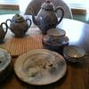 Beautiful porcelain tea set.