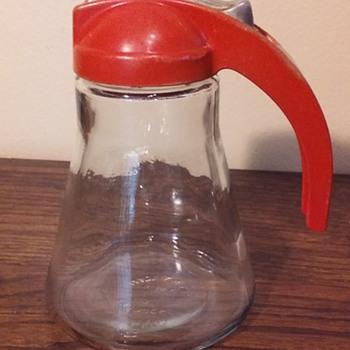 another old syrup dispenser jar - Glassware