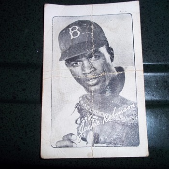 Bond Bread Jackie Robinson Card