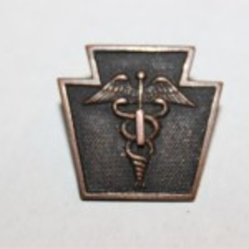 28ID 103RD Keystone Caduceus Medical Pin Badge? - Military and Wartime