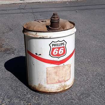 Phillips 66 5 Gallon Multi Use Can Circa I Do Not Know - Advertising