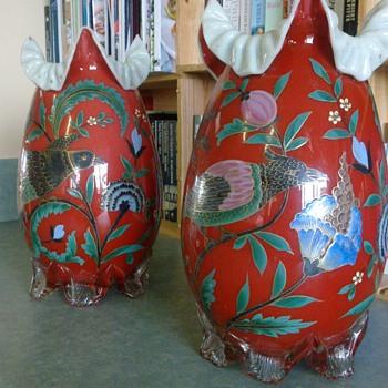 Really unusual vases - Art Glass