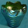 Loetz Blue Silberiris Wellenoptisch Vase