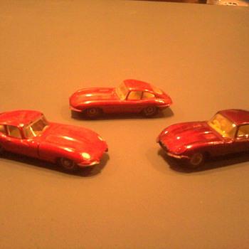 Three Jauguars, three separate toy makers.  Matchbox, Husky and Meccano.