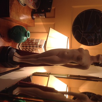 """Leonardene statue of Dyphna. 32"""" tall."""