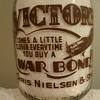 CHRIS NIELSEN & SONS...BLOOMIELD CONNECTICUT...WAR SLOGAN MILK BOTTLE