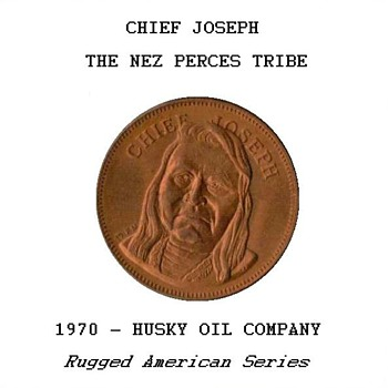 "Husky Oil Co. - ""Chief Joseph"" Token - US Coins"