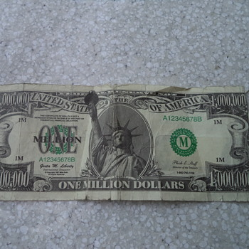 One Million Dollar Bill