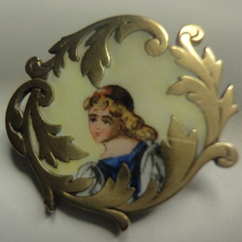 Georgian (?) enameled vermeil brooch - Fine Jewelry