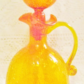Crackle glass decanter - Bottles