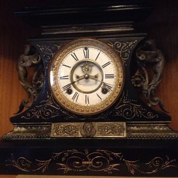 Mantle clock-Ansonia manufacturer - Clocks