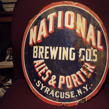 Curved Porcelain Ale Sign - Signs