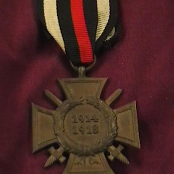 WW I Hindenburg Cross - Military and Wartime
