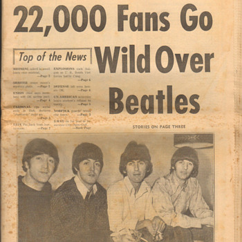 Beatles newspaper-1966 - Music Memorabilia