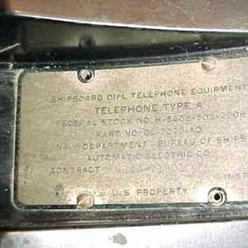 AE 40 Ship Phone Info Plates - Telephones