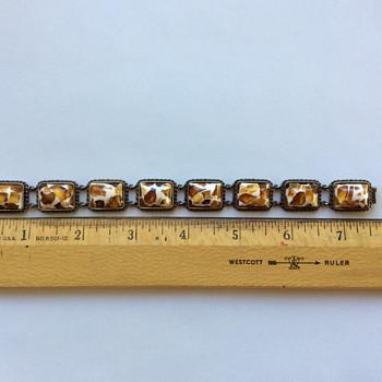 Unusual vintage Amber bracelet - Fine Jewelry